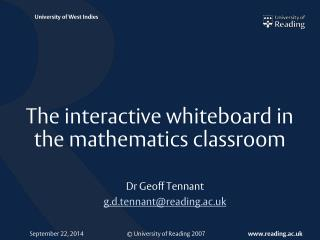 The interactive whiteboard in the mathematics classroom