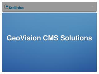 GeoVision CMS Solutions