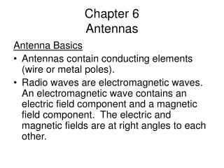 Chapter 6 Antennas