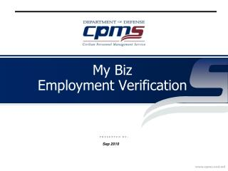 My Biz  Employment Verification