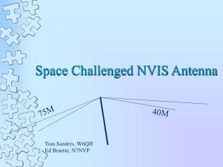 Space Challenged NVIS Antenna