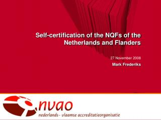 Self-certification of the NQFs of the Netherlands and Flanders