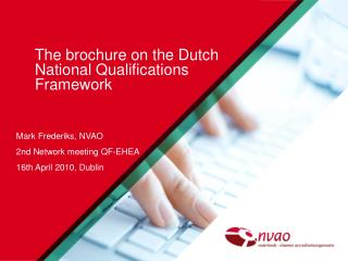 The brochure on the Dutch National Qualifications Framework