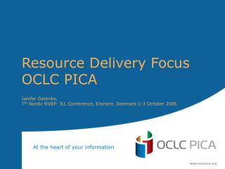 Resource Delivery Focus OCLC PICA