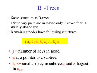 B + -Trees