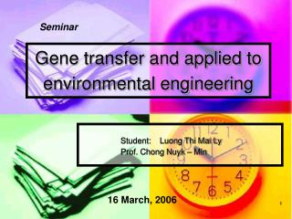 Gene transfer and applied to environmental engineering