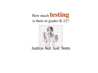 How much  testing is there in grades K-12?