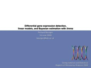 Differential gene expression detection, linear models, and Bayesian estimation with  limma