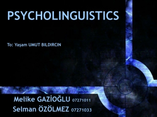 Psycholinguistics Language and the Brain