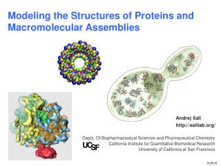 Modeling the Structures of Proteins and Macromolecular Assemblies