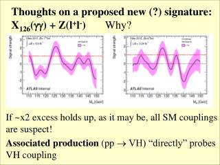 Thoughts on a proposed new (?) signature: X 126 () + Z(l + l - )        Why?