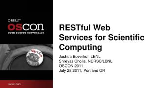 RESTful Web Services for Scientific Computing