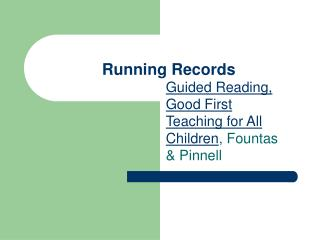 Running Records