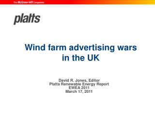 Wind farm advertising wars in the UK
