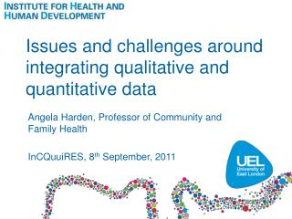 Issues and challenges around integrating qualitative and quantitative data