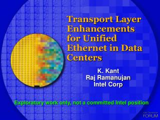 Transport Layer Enhancements for Unified Ethernet in Data Centers
