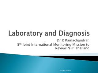 Laboratory and Diagnosis
