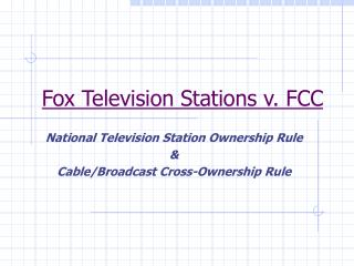 Fox Television Stations v. FCC