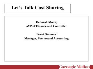 Let's Talk Cost Sharing