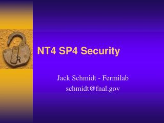 NT4 SP4 Security
