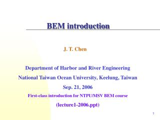 BEM introduction