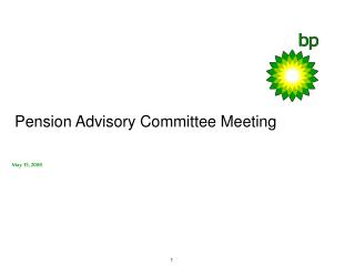 Pension Advisory Committee Meeting