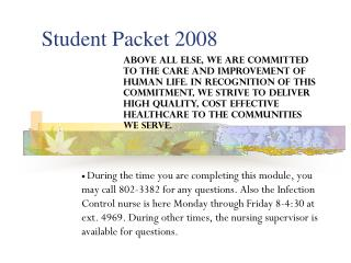 Student Packet 2008
