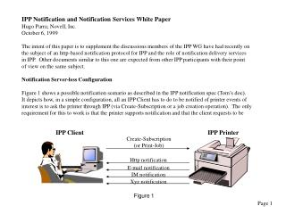 IPP Notification and Notification Services White Paper Hugo Parra; Novell, Inc. October 6, 1999