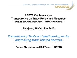 Samuel Munyaneza and Ralf Peters, UNCTAD
