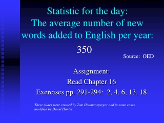 Statistic for the day: The average number of new words added to English per year: