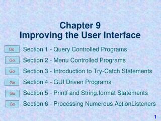Chapter 9 Improving the User Interface