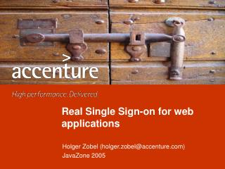 Real Single Sign-on for web applications