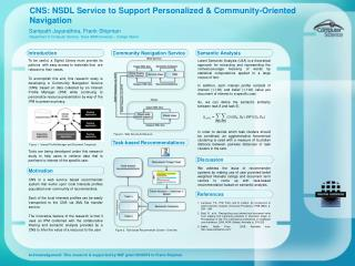 CNS: NSDL Service to Support Personalized & Community-Oriented Navigation