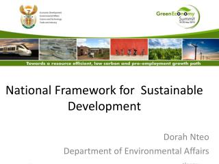 National Framework for  Sustainable Development