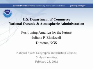 U.S. Department of Commerce  National Oceanic & Atmospheric Administration