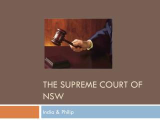 The Supreme Court of NSW