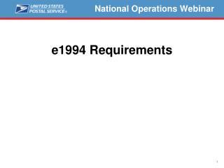 National Operations Webinar
