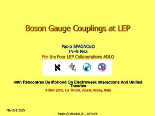 Boson Gauge Couplings at LEP