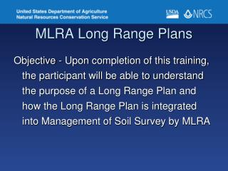 MLRA Long Range Plans