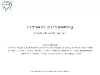 Electron cloud and scrubbing