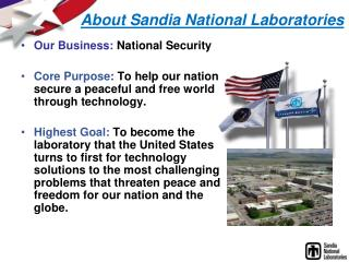 About Sandia National Laboratories