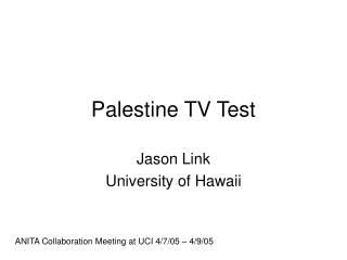 Palestine TV Test