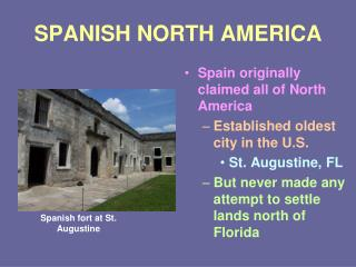 SPANISH NORTH AMERICA