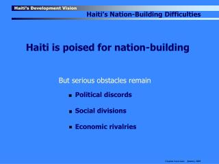 Haiti's Development Vision