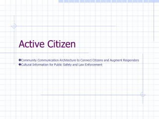 Active Citizen
