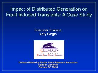 Impact of Distributed Generation on Fault Induced Transients: A Case Study