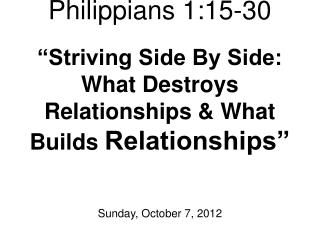 Sunday, October 7, 2012