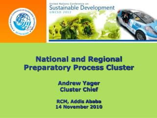 National and Regional  Preparatory Process Cluster Andrew Yager Cluster Chief RCM, Addis Ababa