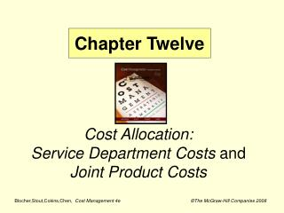 Cost Allocation: Service Department Costs  and  Joint Product Costs