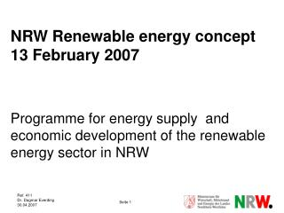 Energy production by Renewables in NRW